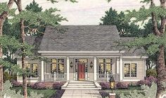 Country Style House Plans - 1997 Square Foot Home , 1 Story, 4 Bedroom and 2 Bath, 2 Garage Stalls by Monster House Plans - Plan 47-182