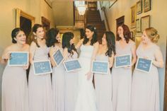 Pic of How you Met your Bridesmaids   Photo by Jessie Hollaway, Flowers by Enchanted Florist, Wedding Venue and Styling by CJ's Off the Square - Garden Venue in Nashville