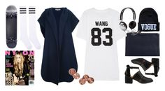 """""""LPD New York Team Wang printed cotton-jersey T-shirt"""" by thestyleartisan ❤ liked on Polyvore"""