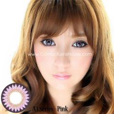Cookie A3 Series - Violet color contact lens. | Shop @ ContactLensHouse.com