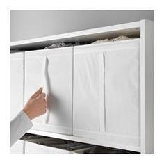 IKEA - SKUBB, Fach, hellgrün, , Wenn das Fach nicht benötigt wird, kann der Reißverschluss geöffnet und das Produkt flach zusammengefaltet verstaut werden.