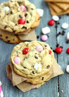 Valentine's S'mores Cookies.