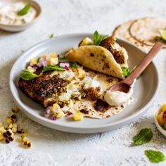 Perfect for these Mojito fish tacos will have you coming back for more! Large Salad Bowl, Salad Bowls, Smoked Mackerel Pate, Onion Relish, Tuna Salad, Fish Tacos, Mojito, Seafood Recipes, Cooking