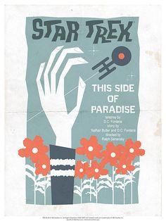 Episode 24: This Side of Paradise - Original Star Trek Series Poster by artist Juan Ortiz