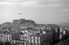 SUNDAY, 25 MARCH, 1945 (National Day) - The first parade after the Liberation People on the roofs of the buildings (Othonos st & Amalias Ave)! Snapshots from Athens, 69 years ago ...  Pavlos Mylonas Athens Photographic Archive Neohellenic Architecture Archives