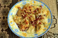 Pierogies with Cabbage, Bacon, and Onions