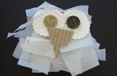 Snowy Owl Craft | CharlotteParent.com #kids #crafts #winter