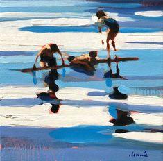 Palm Beach, Ontario, Toronto, Summer Painting, Nyc, Fashion Painting, Landscape Paintings, Painting Styles, Ocean