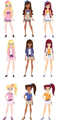 Lolirock switched colors by on DeviantArt Girly Drawings, Cool Drawings, Cute Anime Character, Character Art, Dessin Lolirock, Dreamworks, Les Lolirock, Poses Manga, Cartoon Wallpaper Iphone
