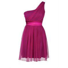 Glitter One-Shoulder Dress ($60) ❤ liked on Polyvore
