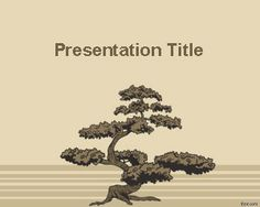 Bonsai Tree PowerPoint Template is a free PowerPoint template with a bonsai background and bonsai illustration that you can download for free for presentations in Microsoft PowerPoint 2010 and 2007