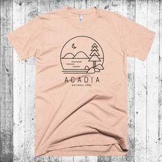 Acadia T-shirt, Maine T-shirt, Acadia National Park, Hipster Modern T-shirt, Camping T-shirt, National Park Tees Gift, Jordan Pond Tee by CityandSky on Etsy https://www.etsy.com/listing/279534254/acadia-t-shirt-maine-t-shirt-acadia