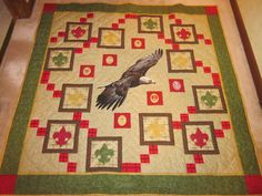 a beautiful Eagle quilt