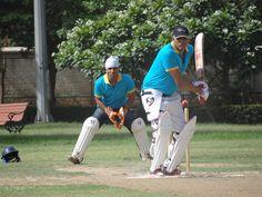 A Balanced shot - Batsman at PCCare247 Cricket Tournament 2012