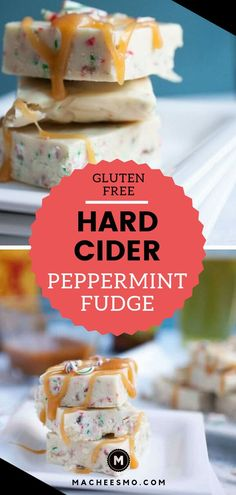 Hard Cider White Peppermint Fudge: This easy holiday fudge starts with reduced Angry Orchard Hard Cider. New Year's Desserts, Easy Holiday Desserts, Single Serve Desserts, Desserts For A Crowd, Winter Desserts, Party Desserts, Delicious Desserts, Christmas Recipes, Holiday Recipes