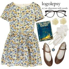"Krissy says, ""love the outfit! The book is just, eh. Cool Outfits, Casual Outfits, Fashion Outfits, Womens Fashion, Polyvore Casual, Vintage Outfits, Vintage Fashion, Zooey Deschanel, Look Vintage"