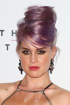 Kelly Osbourne hair: Purple haired princess