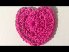 How to Crochet A Heart Shape - Tığişi Kalp Yapılışı - YouTube