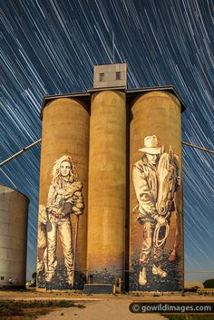 Vic silo art- GoWild Images Australia Best Street Art, 3d Street Art, Street Art Graffiti, Banksy, Outback Australia, Iconic Australia, Dazzle Camouflage, Graffiti Painting, Mural Art