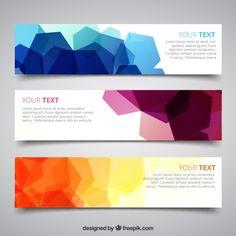Bannières avec géométrique abstraite                                                                                                                                                                                 Plus