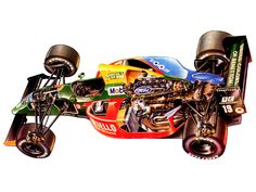 1990 Benetton B190 - Illustration attributed to Terry Collins