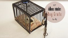 DIY Dollhouse Miniature Dog Crate