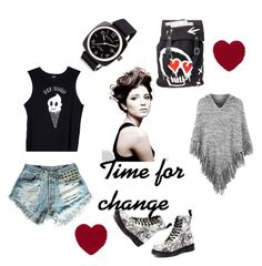 """""""Dimension of changing"""" by amra-camdzic ❤ liked on Polyvore featuring mode, Valfré, Angelo, Dr. Martens, Topshop et Briston"""