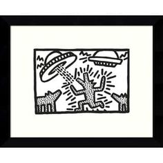 Amanti Art 'Untitled, 1982 Dogs with UFOs' by Keith Haring Framed Graphic Art Frames On Wall, Framed Wall Art, Framed Art Prints, Fine Art Prints, Keith Haring Art, Art For Sale Online, Online Art, School Of Visual Arts, Alternative Art