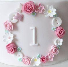 Tatty Teddy First Birthday Cake - cake by Julia Hardy - CakesDecor