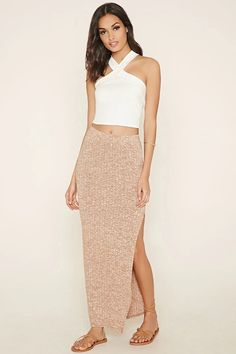 Marled Maxi Skirt #thelatest