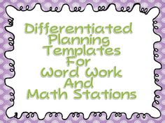 Great center questions answered and a free template for differentiated center planning from A Differentiated Kindergarten!