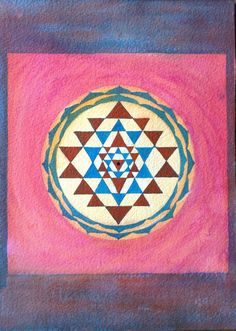 Original Yantra painting 'In wonder' acrylic by Arkofconsciousness, $49.00