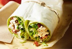 Turn your favourite restaurant salad into a convenient lunchtime wrap.