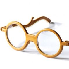 Bamboo eyeglass frame