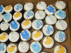 Baby Shower Cupcakes for Boys | Cakes by Paula: Boy Baby Shower Cupcakes
