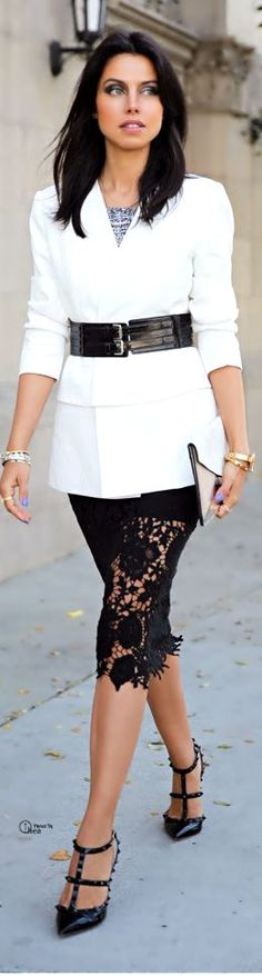 Black and White Street Style and Inspiration