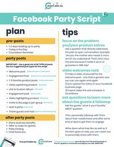 Avon Facebook, Facebook Party, Free Facebook, Direct Sales Party, Norwex Party, Pampered Chef Party, Tupperware Consultant, Pre Party, Party Central