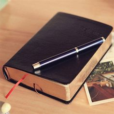 13.87$  Buy here - 1 pcs Vintage Thick Paper Notebook Notepad Leather Bible Diary Book Journals Agenda Planner School Office Stationery Supplies  #magazineonlinebeautiful