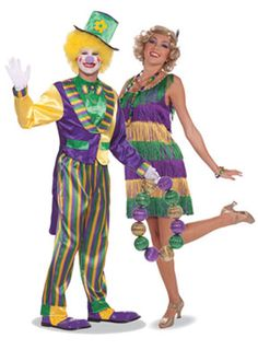 Beads Please! Mardi Gras Clown and Mardi Gras Frisky Flapper (What to wear - Mardi Gras)