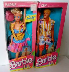 Vintage 1987 California Barbie Ken with Comic Books Inside New | eBay