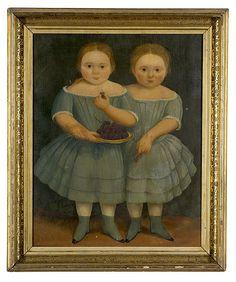 American School Portrait of the Emmett Twins, - Cowan's Auctions