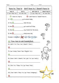 Have to ficha interactiva y descargable. Puedes hacer los ejercicios online o descargar la ficha como pdf. Free Worksheets For Kids, Weather Worksheets, English Worksheets For Kids, Verb Worksheets, Free Kindergarten Worksheets, Verb To Have, Kids English, English Class, Algebra Equations