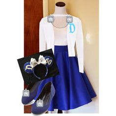 Disneyland Diamond 1950s Inspired Look by clarissa-michele on Polyvore featuring polyvore, fashion, style and Disney
