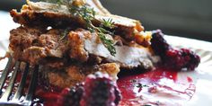 Walnut,Lemon,Herb Chicken with Marion Berry Sauce