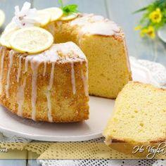 Chiffon cake al limone alta e morbida ricetta   Ho Voglia di Dolce