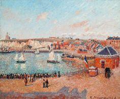 """Die ganz großen Maler wie Camille Pissarro sind ebenso vertreten wie einige Unbekanntere. Hier Pissarros """"Avant-port de Dieppe"""" aus dem Jahr 1902."""