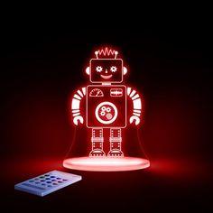 Natlampe med timer og fjernbetjening Robot fra Aloka 399 kr.SleepyLights