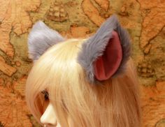 Check out our costumes selection for the very best in unique or custom, handmade pieces from our shops. Wolf Ears, Ear Hair, Cosplay Costumes, Cosplay Ideas, Playing Dress Up, Cat Ears, Hair Clips, Kitty, Pink