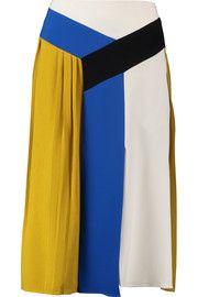 Emilio PucciPleated paneled crepe skirt