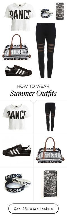 """tenue 63"" by loisefairytail on Polyvore featuring moda, VILA, adidas Originals e Sole Society"